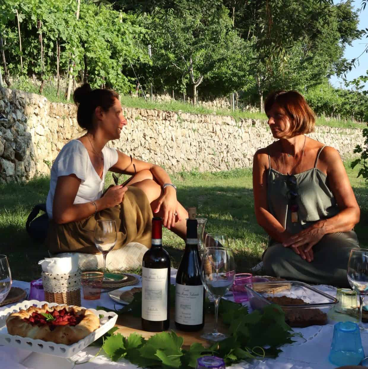 Picnic in vigna in Valpolicella